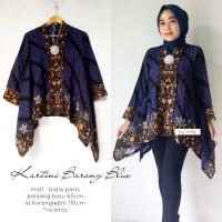 blouse batik kartini barong blue