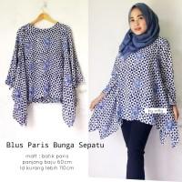 blouse batik paris bunga sepatu