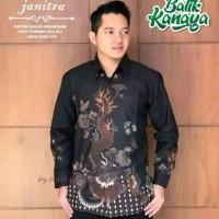 Kemaja batik pria lengan panjang motif naga full furing berkwalitas