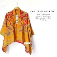 blouse batik kartini flower pink