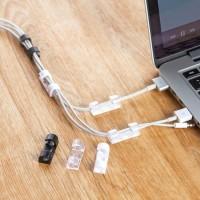 Penjepit Kabel serbaguna / Clip Klip Kabel hp laptop Supaya Rapi