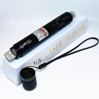 Laser Pointer Hijau / Green Laser Pointer / Rechargeable USB - Hitam