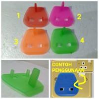 Adaptor Colokan Plug Key Stop Kontak 3 Kaki untuk Travelling Malaysia