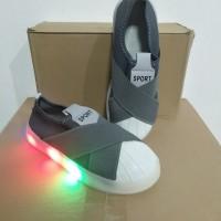 sepatu lampu anak sneakers laki laki sport cowo import murah original