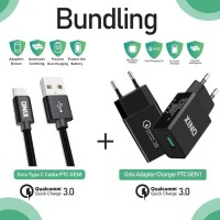 Bundling - Onix Adaptor Charger PTC-01 + PTC Gen 1 Type-C Usb