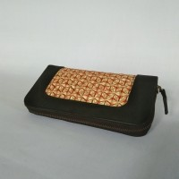 Dompet Anyaman Bambu Kombinasi Kulit Asli - Kerajinan Bambu