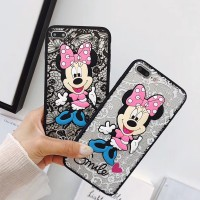 Case Samsung Galaxy Note 3 4 5 8 DIY Motif Bordir Renda Minnie Lucu