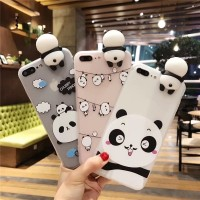 Case Panda Kartun Lucu Bahan Silikon untuk HP VIVO V5 Plus V5 LITE