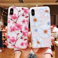 Case Bunga Peach 3D Untuk Samsung Galaxy J2 Pro J5 J7 Prime j4 j6 2018
