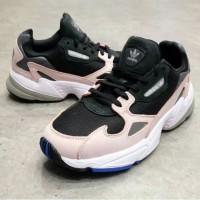sepatu adidas falcon black pink B28126 original