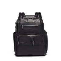 TUMI Alpha 3 Compact Laptop Brief Pack Leather - Black