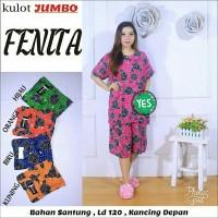 Setelan kulot jumbo batik / babydoll jumbo / baju tidur jumbo
