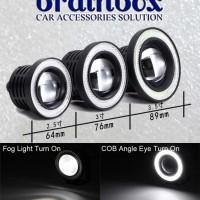 Fog Lamp Angel Eyes 2,5inch ( 64mm ) Putih Putih - Lampu Projector