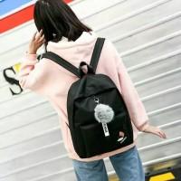 backpack tas ransel sekolah gratis pom pom