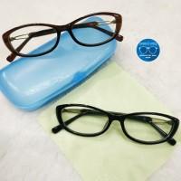 Kacamata frame gratis lensa minus wanita cateyes superseen anti radias