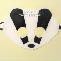 Topeng Luak Topeng Flanel kostum topeng hewan hutan pesta ulang tahun