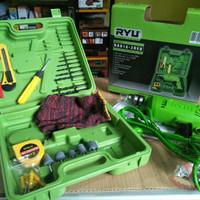 Mesin bor tangan listrik 10 mm set koper 22pcs RYU RDR 10 - 3 REB