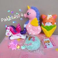 Squishy Paket Ice cream sheep kuda laut Cat Kitty Donut Susu Murah