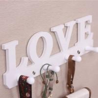Rak Dinding Vintage LOVE wall rack interior rumah home souvenir kayu O