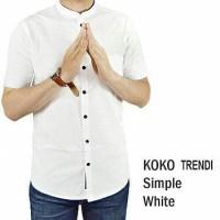 Koko Trendi Katun Strech Kerah Sanghai/Koko Kerah Shanghai/Baju Muslim