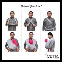 Gendongan Kaos Geos Instan 2 in 1 Baby Wrap - TOSCA, Size S