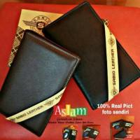 Dompet Kulit Pria Panjang 3/4 Branded Import Sabiq Original Cowok