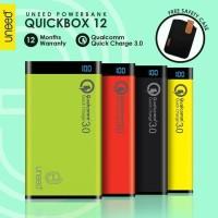 "UNEED Powerbank 12000mAh Qualcomm Quick Charge 3.0 QuickBox 12"""