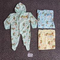 KD51 Sleepsuit Bayi Tutup dan Buka Kaki YKS Baju Kodok Bayi Piyama