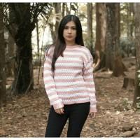 Popcorn Blaster Pink   Sweater Rajut   Sweater Wanita   Baju Rajut   A