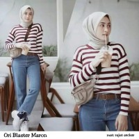 Ori Blaster Maroon   Sweater Rajut   Sweater Wanita   Baju Rajut   Ata