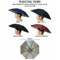 Payung Topi / Topi Payung Diameter 50 cm / Payung Kepala Hujan Unik