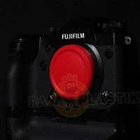 Fujifilm X mount red color body and rear lens cap