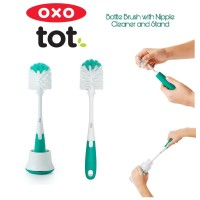 Oxo Tot Bottle Brush with Nipple Cleaner & Stand - Teal