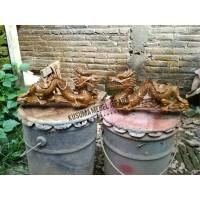 Sepasang (2 buah) Patung Naga Dekorasi Meja Kecil (Panjang 28cm)