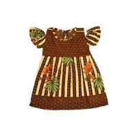 Batik Anak Model Sabrina size S/Dress Batik/Baju Batik Anak
