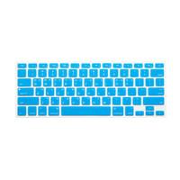 Keyboard Protector Macbook Label Korea - Layout US - Aqua Blue
