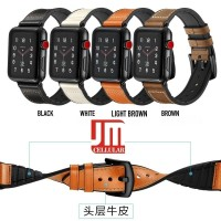 Premium Hybrid Sweat Proof Leather Strap For Apple Watch 42mm 44mm