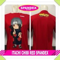 Kaos Baju distro pria anime onepiece - ITACHI CHIBI RED