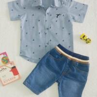 Baju Anak Laki laki | Setelan Kemeja dan Celana Jeans Import