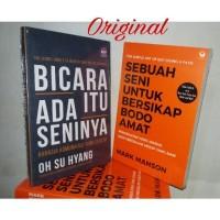 Original Buku Bicara Itu Ada Seninya & Sebuah Seni Bersikap Bodo Amat
