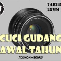 Lensa Manual 7artisans 25MM F1.8 Fuji X FX Mount Black
