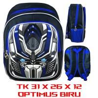 Tas Ransel Sekolah Anak TK Optimus Biru SUPER 3D TImbul