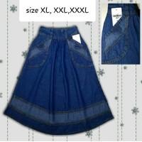 Rok Muslim Soft Jeans Oshkosh Size XL-XXXL Untuk Anak Usia 8-10th