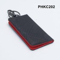 dompet stnk motor mobil model lipat buku hitam x merah - PHKC202