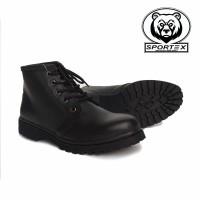 sepatu safety wanita ujung besi type DM / safety shoes wanita by sport - Hitam, 37