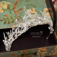 Mahkota Rambut Pesta Wedding Modern Aksesoris Pengantin Lenka - MRW019 - Alloy