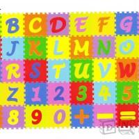 Puzzle Matras / Evamats / Evamat / Abjad Mini Angka Simbol - Tikar