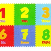 Karpet Puzzle Evamat / Angka Polos / Matras / Tikar Alas Bermain Anak
