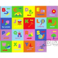 Matras Puzzle Evamat / Karpet / Alat Lantai - Huruf Abjad Gambar Murah