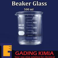 Beaker Glass 500ml/ Gelas Ukur 500ml/ Gelas Kimia